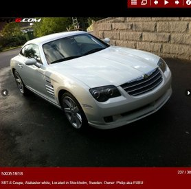 CHRYSLER CROSSFIRE SRT-6 - VIN REGISTRY - VIN GALLERY