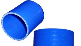 "3"" dia. X 3"" lgth. Silicone Straight Coupler,  Blue SIL000604 - Genuine 4-ply Silicone"